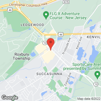 Map of Liberty Travel at 275 Route 10 East, Succasunna, NJ 07876