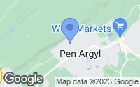 Map of Pen Argyl, PA