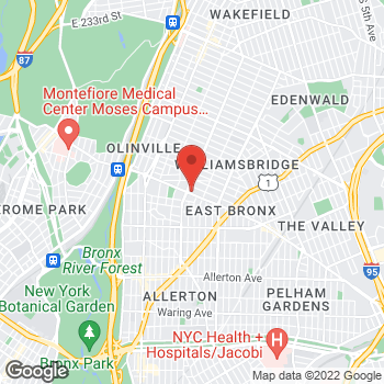 Map of Rite Aid at 901 East Gun Hill Road, Bronx, NY 10469