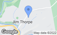 Map of Jim Thorpe, PA