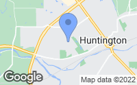Map of Huntington, IN