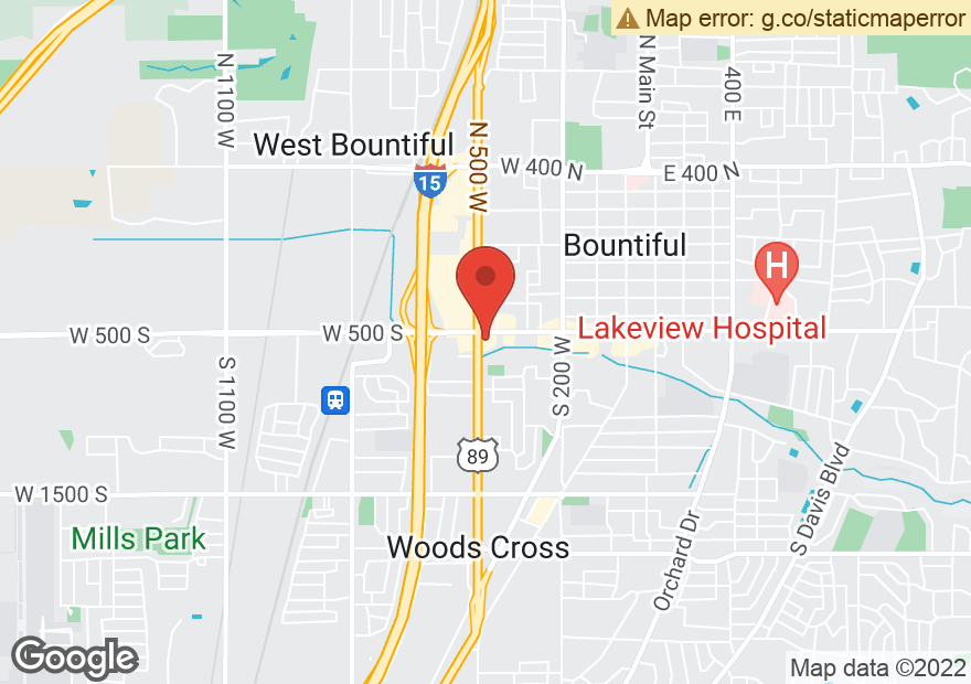 Google Map of 515 S 500 W