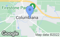 Map of Columbiana, OH