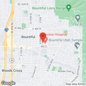 Map of Scott Samuelson, MD at 520 E Medical Drive, Bountiful, UT 84010