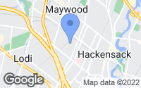 Map of Hackensack, NJ