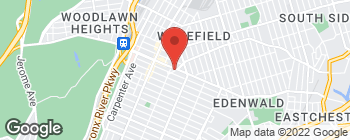 Map of 824 E 233rd St in Bronx
