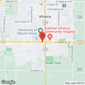Map of Arby's at 130 W State St, Alliance, OH 44601