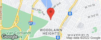 Map of 939 McLean Ave in Yonkers