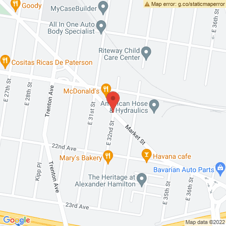 Amerco Business Consultants Inc - Moving Centers, Saddle Brook on Map (Market & E 32nd, Paterson, NJ 07510) Map