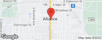 Mapa de 724 S Union Ave en Alliance