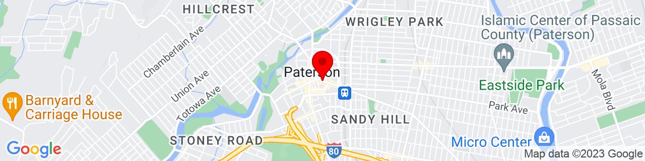 Google Map of 40.91645833333333, -74.17108055555556