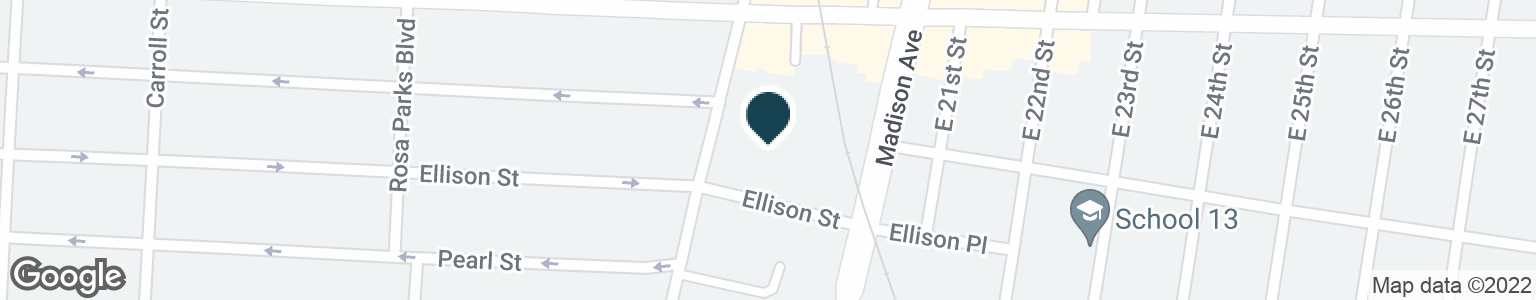 Google Map of639 E 18TH ST