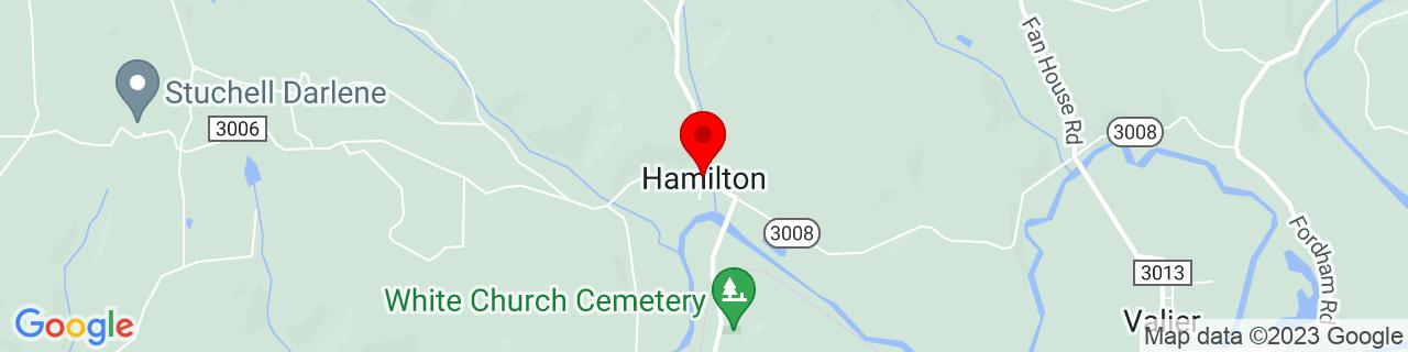 Google Map of 40.92423, -79.08087