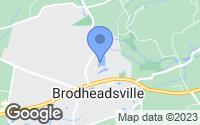 Map of Brodheadsville, PA