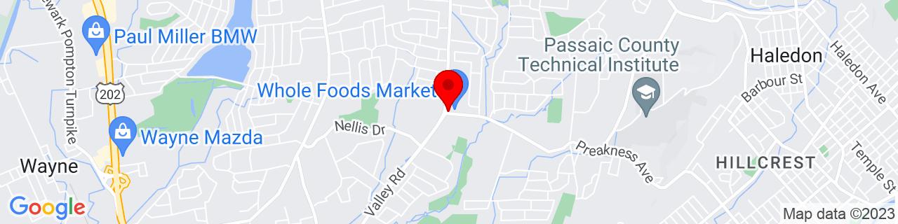 Google Map of 40.9303762, -74.2276462