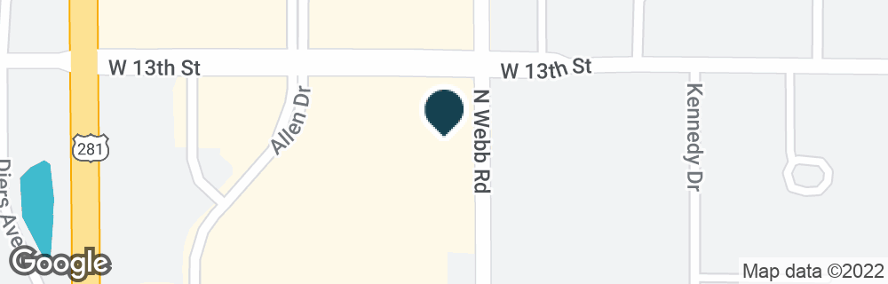 Google Map of1230 N WEBB RD