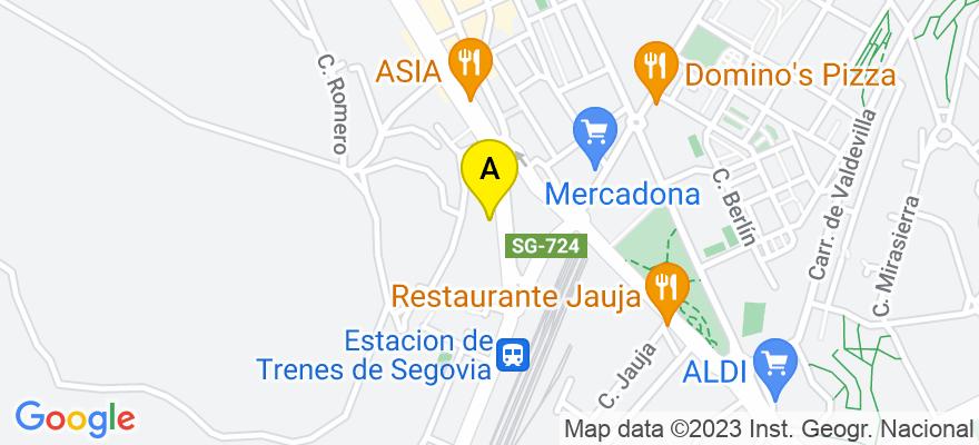 situacion en el mapa de . Direccion: Avda Obispo Quesada 14, 4C, 40006 Segovia. Segovia
