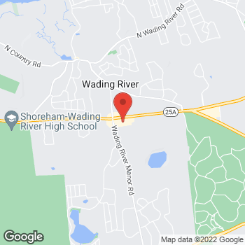 Map of Verizon Authorized Retailer - TCC at 6245 Route 25A, Wading River, NY 11792