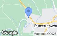 Map of Punxsutawney, PA