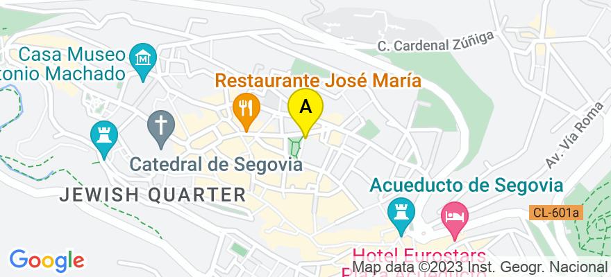 situacion en el mapa de . Direccion: APTDO CORREOS C/ DOCTOR LAGUNA 5, 40001 Segovia. Segovia