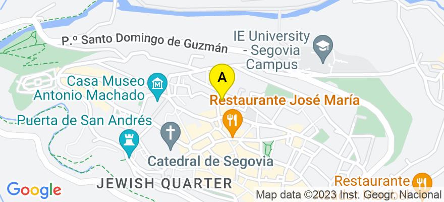 situacion en el mapa de . Direccion: CAPUCHINOS ALTA 1, 40001 Segovia. Segovia