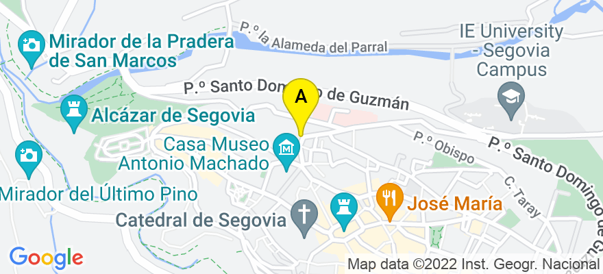 situacion en el mapa de . Direccion: C/ DOCTOR VELASCO 7, 40003 Segovia. Segovia