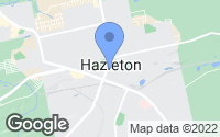 Map of Hazleton, PA