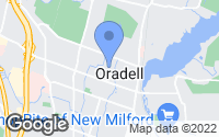 Map of Oradell, NJ