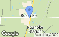 Map of Roanoke, IN