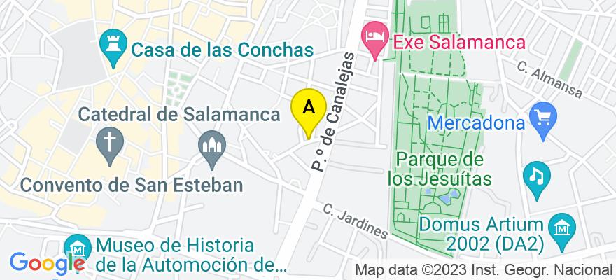 situacion en el mapa de . Direccion: C/ Hortaleza nº 8 - 2ª A, 37001 Salamanca. Salamanca