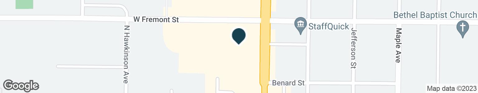Google Map of844 W FREMONT ST