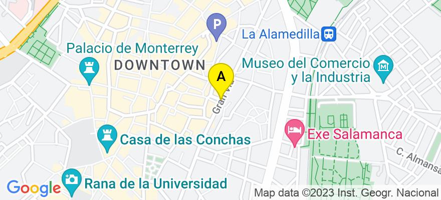 situacion en el mapa de . Direccion: C/ GRAN VÍA, Nº28, PISO 3ºD, 37001 Salamanca. Salamanca