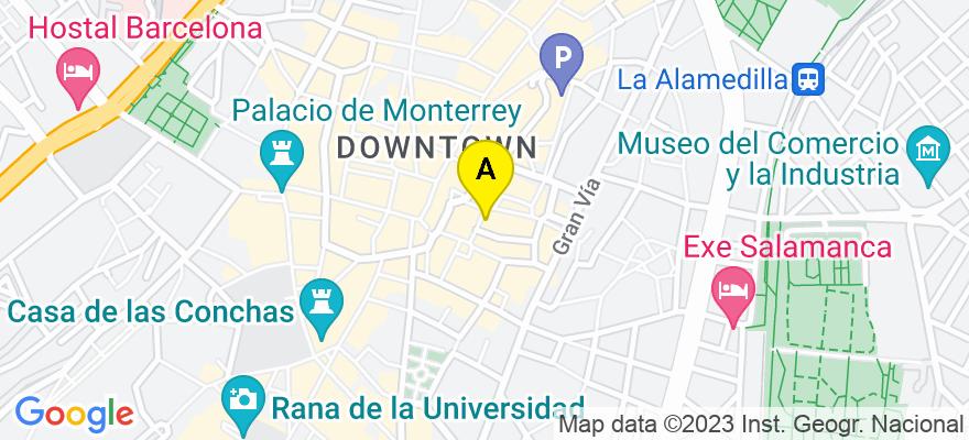 situacion en el mapa de . Direccion: Plaza del Mercado nº 12, 2º B, 37001 Salamanca. Salamanca
