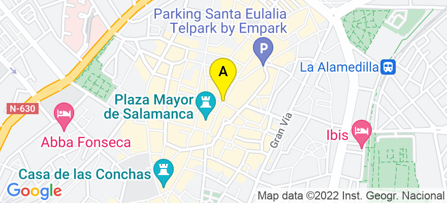 situacion en el mapa de . Direccion: C/Toro 13, 4º D, 37002 Salamanca. Salamanca