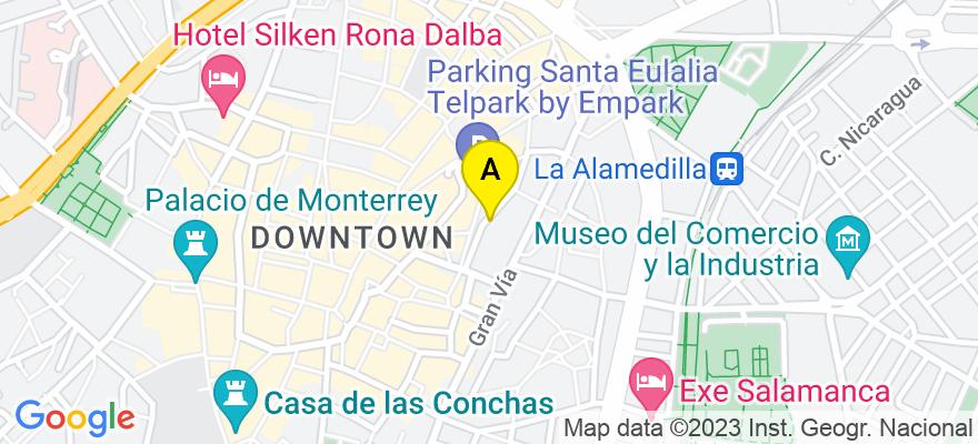 situacion en el mapa de . Direccion: C/ Bermejeros  22 2º E, 37001 Salamanca. Salamanca