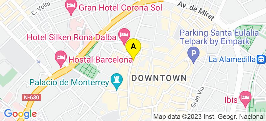 situacion en el mapa de . Direccion: c/ Iscar Peyra 34 1º, 37002 Salamanca. Salamanca