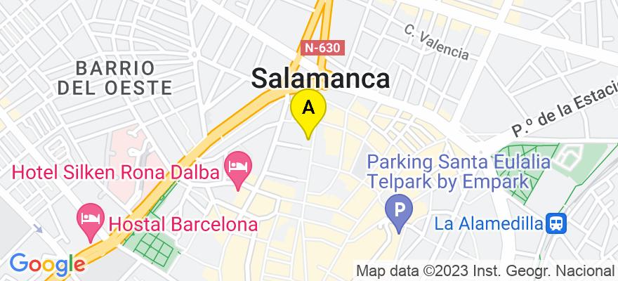 situacion en el mapa de . Direccion: Calle Zamora n 61, 37002 Salamanca. Salamanca