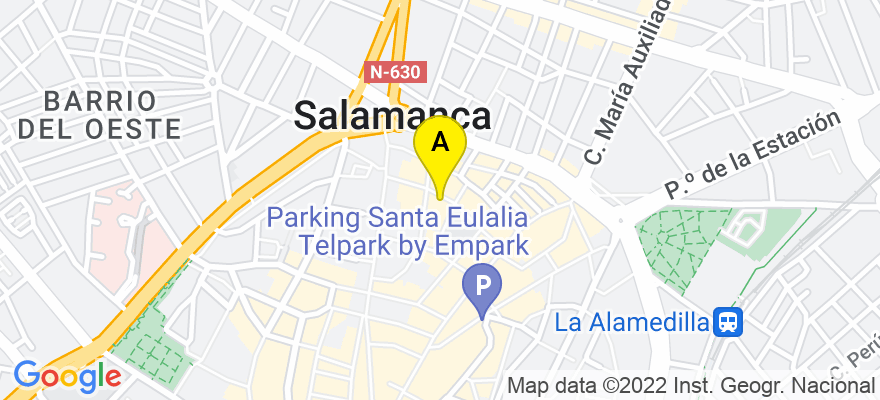situacion en el mapa de . Direccion: CALLE ARCO 20 bajo, 37002 Salamanca. Salamanca