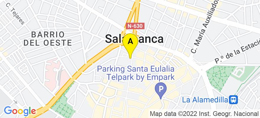 situacion en el mapa de . Direccion: C/Zamora, 71 Oficina 7, 37002 Salamanca. Salamanca