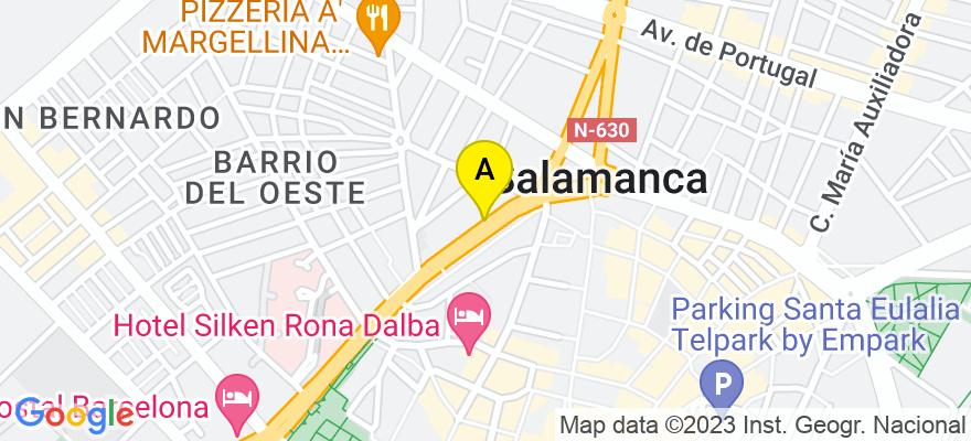situacion en el mapa de . Direccion: Paseo de Carmelitas nº 32 1º, 37007 Salamanca. Salamanca