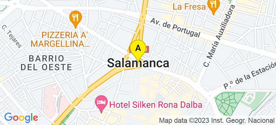 situacion en el mapa de . Direccion: Arco, 7 1ºD, 37002 Salamanca. Salamanca