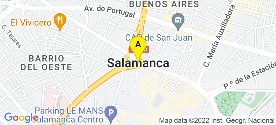 situacion en el mapa de . Direccion: Plaza de la Fuente Nº11 7ºA, 37002 Salamanca. Salamanca