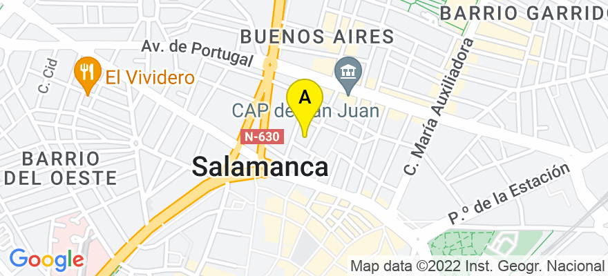 situacion en el mapa de . Direccion: Sánchez Llevot 1 oficina 15, 37005 Salamanca. Salamanca