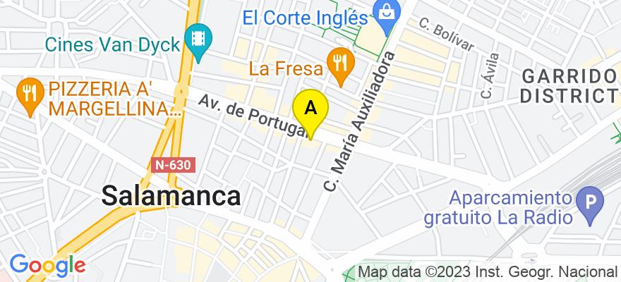 situacion en el mapa de . Direccion: Avenida Portugal, 69, 1º-C, 37005 Salamanca. Salamanca
