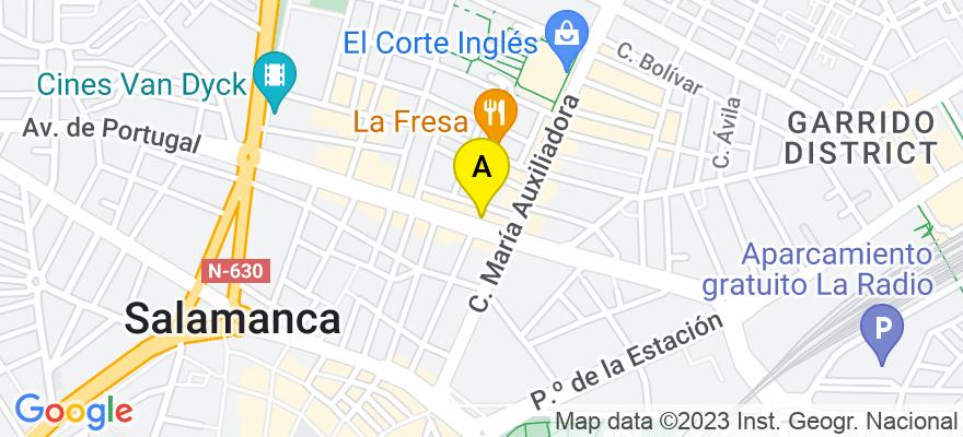 situacion en el mapa de . Direccion: Avenida Portugal, 30, 37004 Salamanca. Salamanca