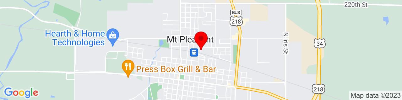 Google Map of 40.9716959, -91.54877139999999