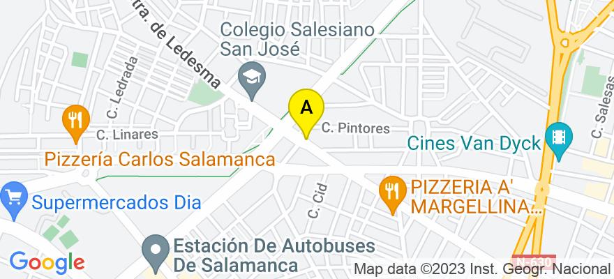 situacion en el mapa de . Direccion: CARRRETERA DE LEDESMA 16, 1º A, 37006 Salamanca. Salamanca