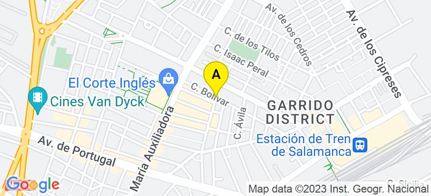 situacion en el mapa de . Direccion: C/BOLIVAR Nº 19 Bj., 37004 Salamanca. Salamanca