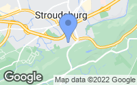 Map of Stroudsburg, PA