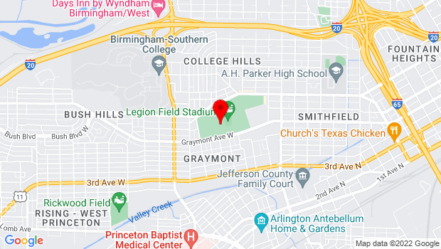 Google Map of 400 Graymont Avenue West  , Birmingham, AL 35204